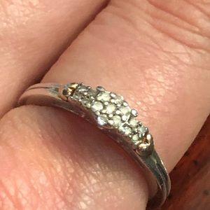 Alwand Vahan diamond and gold hearts ring